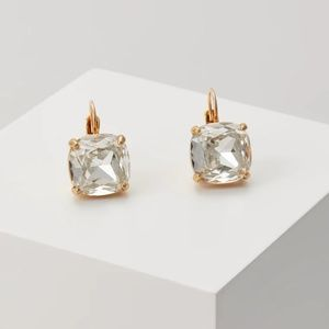 Kate Spade Crystal Square Leverback Earrings New